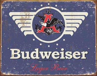 Tin Sign - Budweiser 1936 Logo (Weathered)