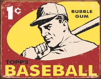 Tin Sign - Topps 1959 Baseball (Weathered)