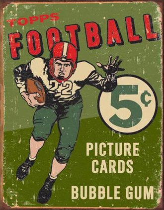 Tin Sign - Topps 1956 Football (Weathered)