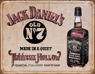 Tin Sign - Jack Daniel's - Tennessee Hollow (Weathered)