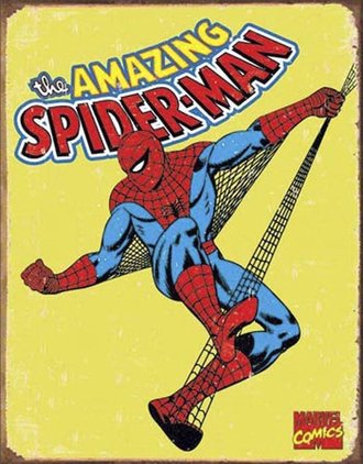 Tin Sign - Spider-Man - Retro (Weathered)