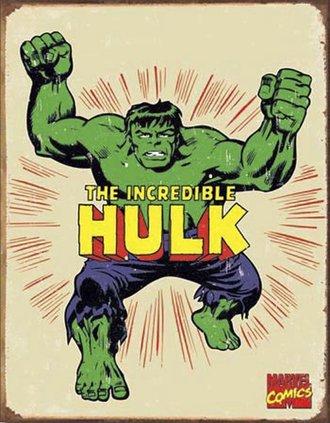 Tin Sign - Hulk - Retro (Weathered)