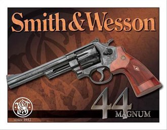 Tin Sign - Smith & Wesson - 44 Magnum