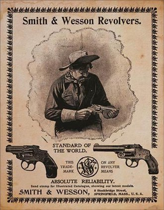 Tin Sign - Smith & Wesson - Standard of The World