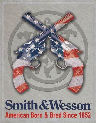Tin Sign - Smith & Wesson - American Born