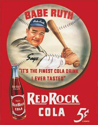 Tin Sign - Babe Ruth - Red Rock Kola