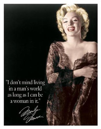 Tin Sign - Marilyn Monroe - Man's World