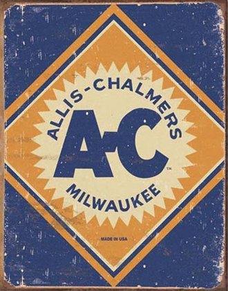 Tin Sign - Allis-Chalmers Logo (Weathered)