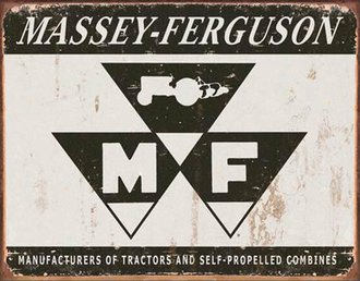 Tin Sign - Massey-Ferguson Logo (Weathered)