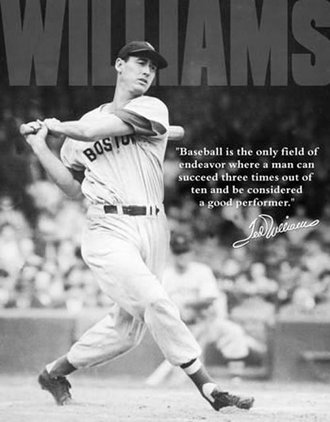 Tin Sign - Ted Williams - Baseball