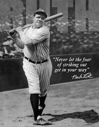 Tin Sign - Babe Ruth - No Fear