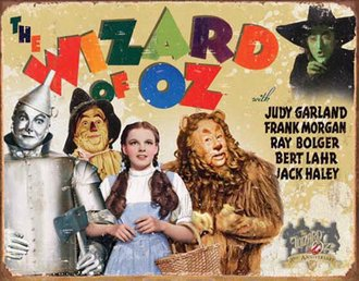 Tin Sign - Wizard of Oz - 70th Anniversay (Weathered)