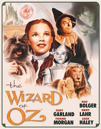 Tin Sign - Wizard of Oz - Illustrated Poster
