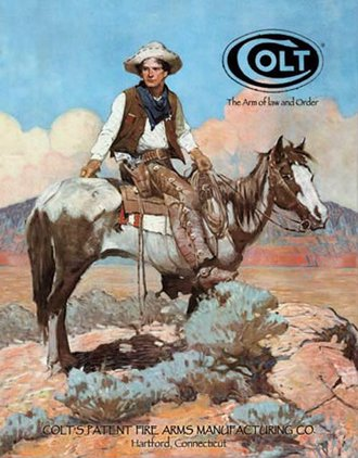 Tin Sign - Colt - Tex & Patches