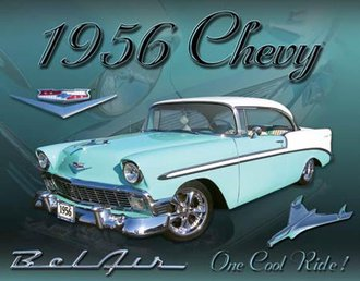 Tin Sign - Chevy 1956 Bel Air