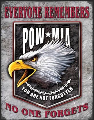 Tin Sign - Legends - POW Eagle (Weathered)