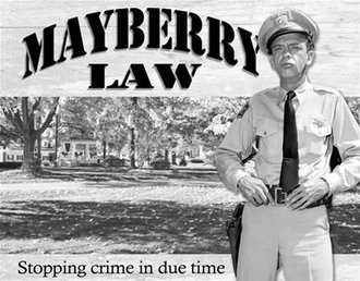 Tin Sign - Barney Fife - Mayberry Law