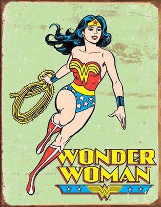 Tin Sign - Wonder Woman - Retro (Weathered)