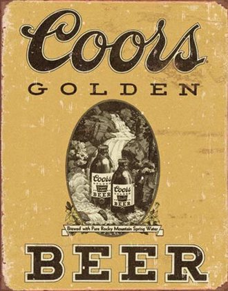 Tin Sign - Coors Golden (Weathered)