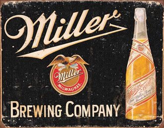 Tin Sign - Miller Brewing Company (Weathered)