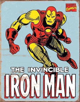 Tin Sign - Iron Man - Retro (Weathered)