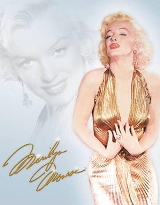 Tin Sign - Marilyn Monroe - Gold Dress