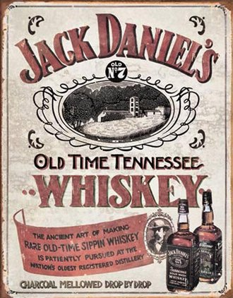 Tin Sign - Jack Daniel's - Sippin' Whiskey (Weathered)