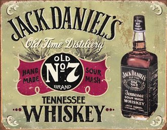 Tin Sign - Jack Daniel's - Hand Made (Weathered)