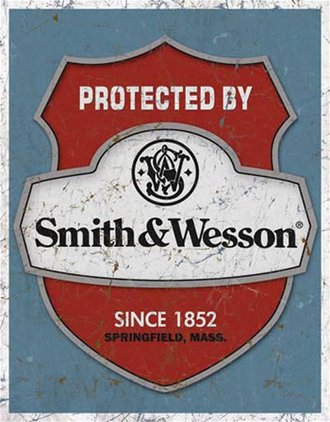Tin Sign - Smith & Wesson - Protected By