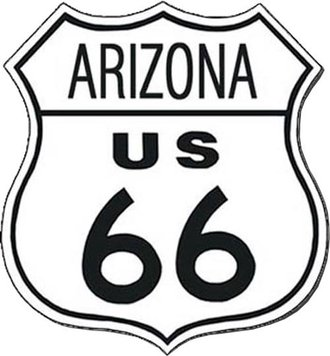 Tin Sign - Route 66 - Arizona (Shield)