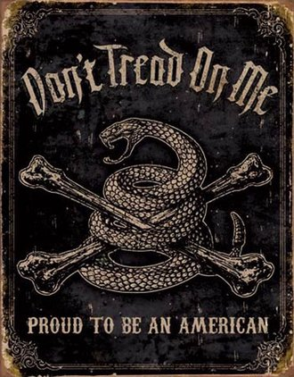Tin Sign - DTOM - Proud American (Weathered)