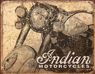 Tin Sign - Indian Motorcycles (Weathered)