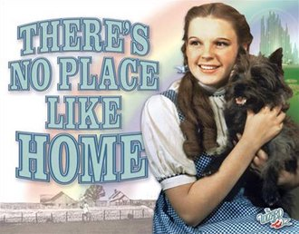 Tin Sign - Wizard of Oz - There's No Place Like Home