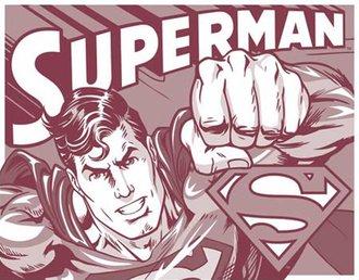 Tin Sign - Superman - Duotone