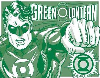 Tin Sign - Green Lantern - Duotone