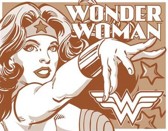 Tin Sign - Wonder Woman - Duotone
