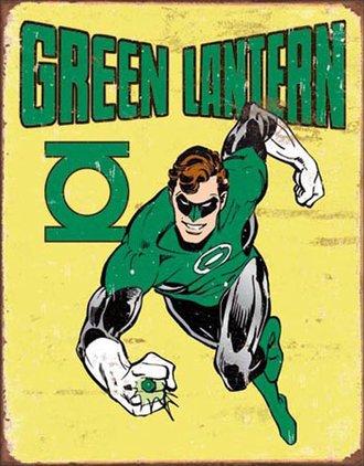 Tin Sign - Green Lantern - Retro (Weathered)