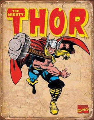 Tin Sign - Thor - Retro (Weathered)