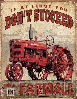 Tin Sign - International McCormick Farmall (Weathered)