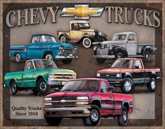 Tin Sign - Chevy Truck Tribute