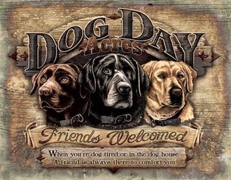 Tin Sign - Dog Day Acres
