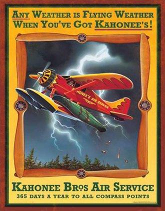 Tin Sign - Kahonee Air Service