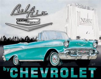 Tin Sign - 1957 Chevy Bel Air