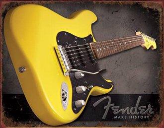 Tin Sign - Fender - Make History (Weathered)