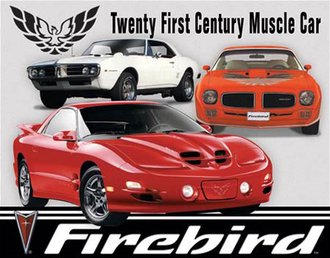 Tin Sign - Pontiac Firebird Tribute