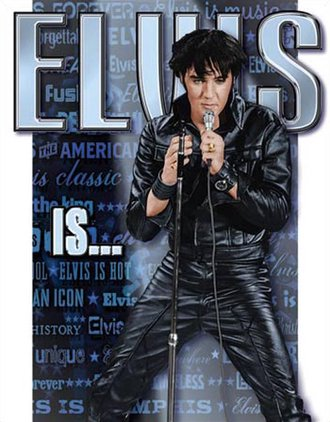 Tin Sign - Elvis Is...