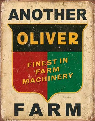 Tin Sign - Another Oliver Farm (Weathered)