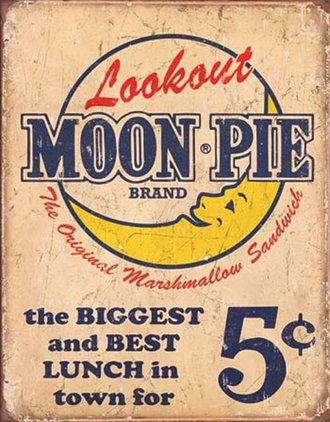 Tin Sign - Moon Pie - Best Lunch (Weathered)
