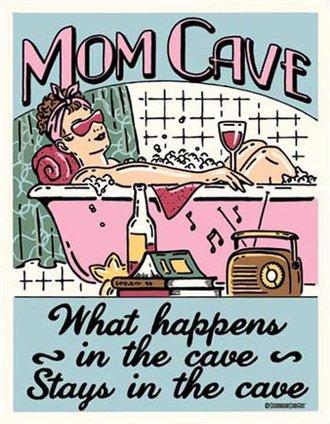 Tin Sign - Mom Cave - Sanctuary