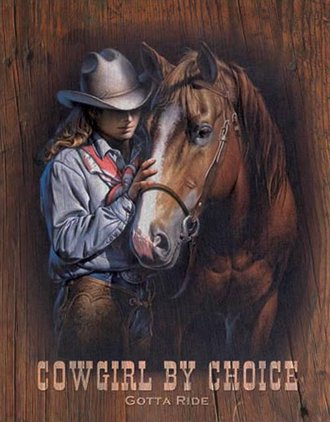 Tin Sign - Cowgirl By Choice